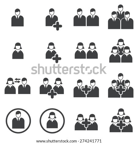 people icon - stock vector