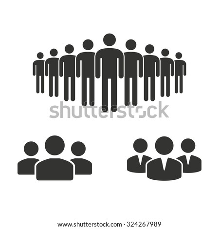 People icon. - stock vector