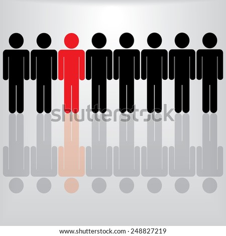 People Icon Man - stock vector