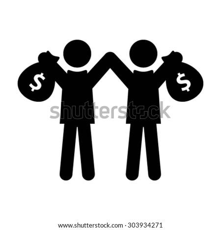 People Icon - Money Bag, Earnings etc. - stock vector
