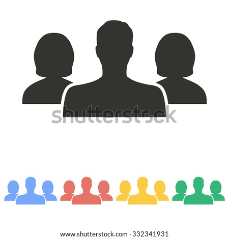 People icon on white background. Vector illustration. - stock vector