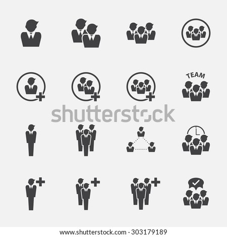 people icon set. - stock vector