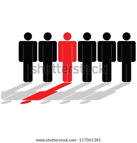 people icon vector illustration - stock vector