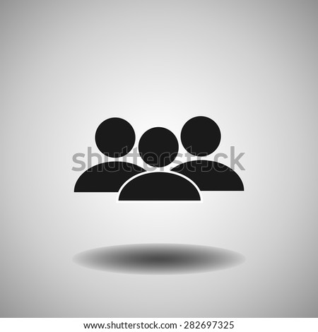 people icon, vector illustration. - stock vector