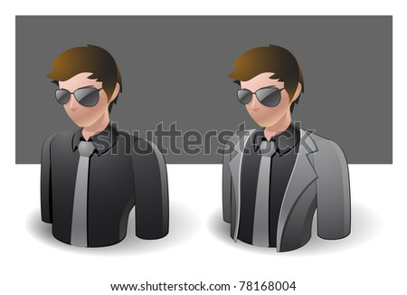 people icons : businessman male no.2 - stock vector