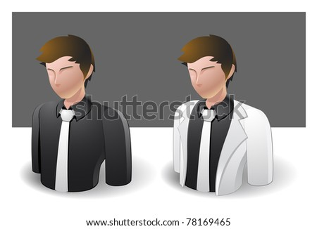 people icons : businessman male no.4 - stock vector