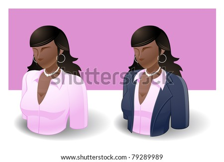 people icons : female no.7 - stock vector