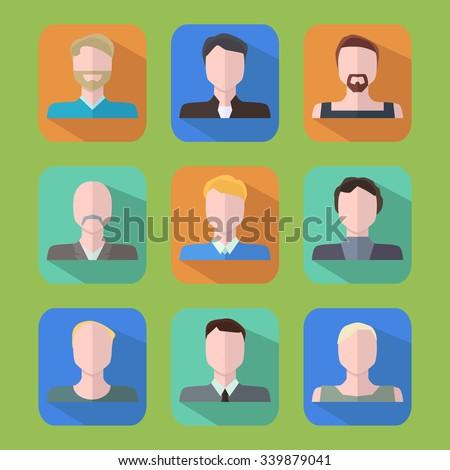 People icons. Flat vector icons set