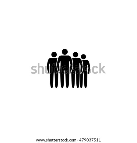 People Icons - Isolated On White Background. Vector Illustration, Graphic Design. For Web, Websites, Print. Business Concept