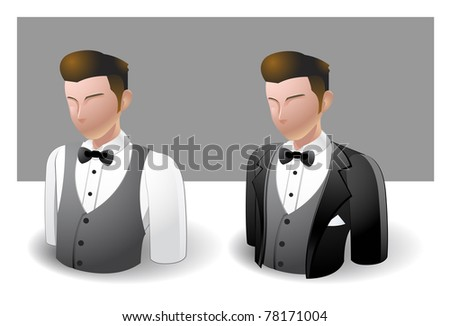 people icons : male - stock vector