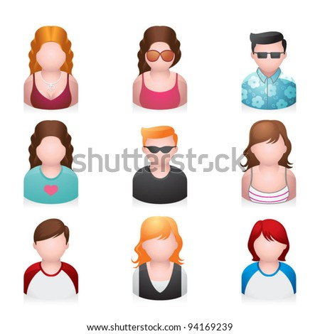 People Icons - More Youngsters - stock vector