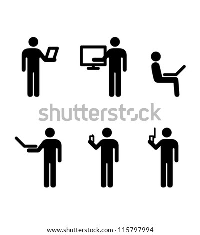 People icons. Personal information technology concepts.