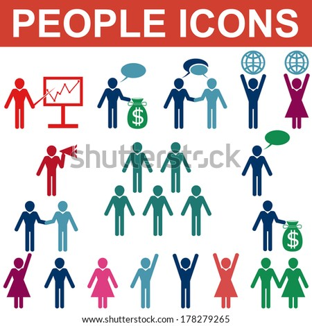 People icons. Vector - stock vector