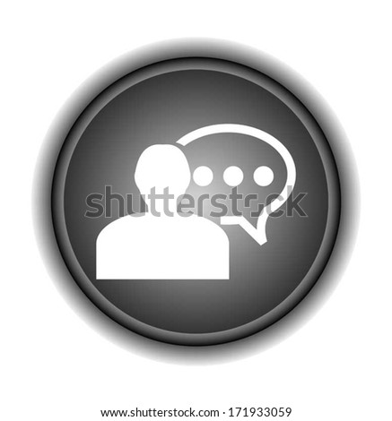 people icons with speech bubble  - stock vector