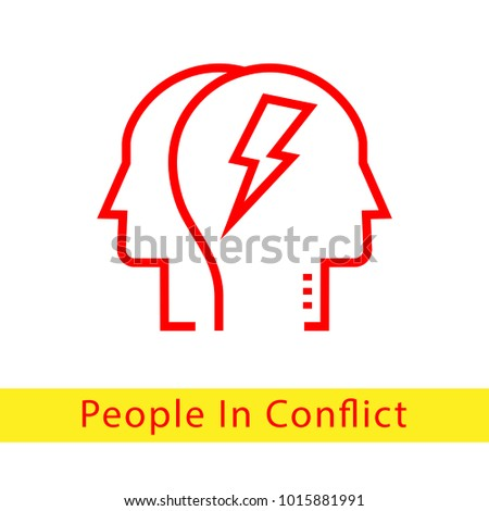 People Conflict Vector Icon Stock Vector Hd Royalty Free