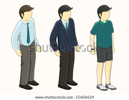 people isometric series. see the others - stock vector