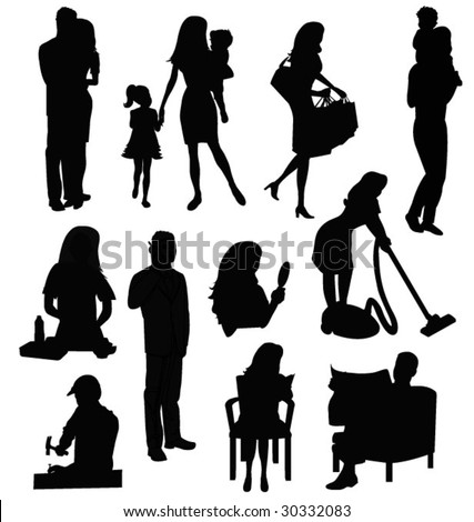 people life - stock vector