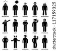 People Man Characteristic Behaviour Mind Attitude Identity Stick Figure Pictogram Icon - stock photo