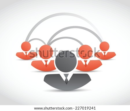 people network communication illustration design over a white background - stock vector