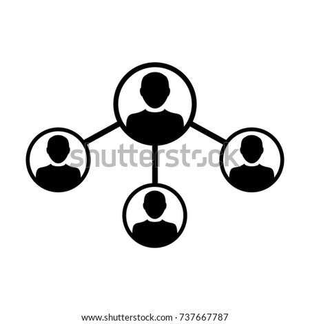 People Network Social Connection Icon Vector Stock Vector Hd