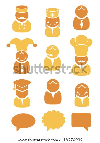 People occupation icon set - stock vector