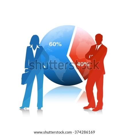 People of business .The concept of economic development - stock vector