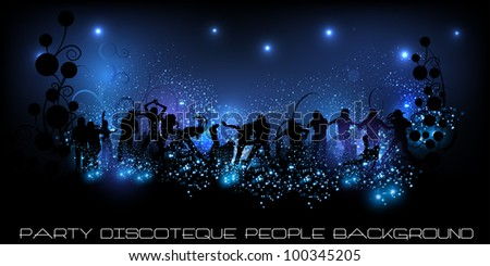 people party background illustration - stock vector
