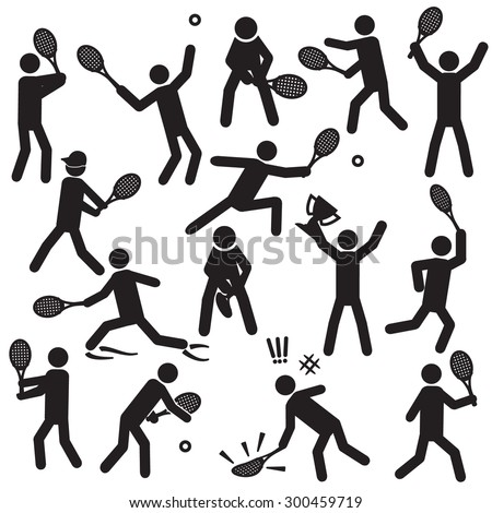 People playing tennis vector - stock vector