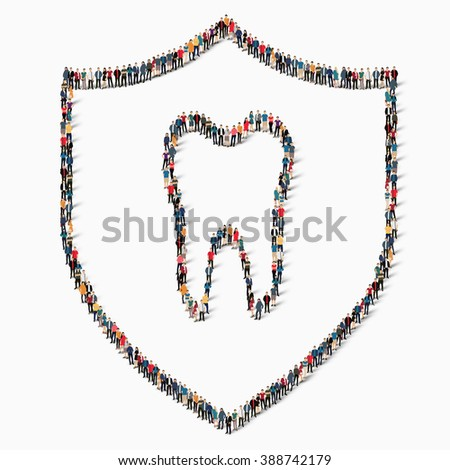 people protection tooth dentistry - stock vector