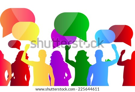 People Protest - stock vector