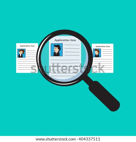 People resources management, finding professional staff. - stock vector
