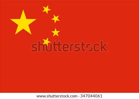People's Republic of China, Chinese Flag vector image