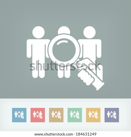 People selection - stock vector