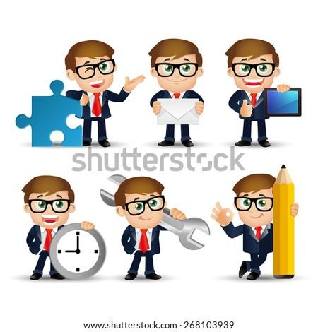 People Set - Business - Businessmen set - stock vector