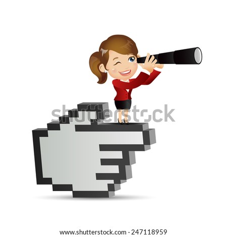 People Set - Business - Foresee. Businesswoman - stock vector