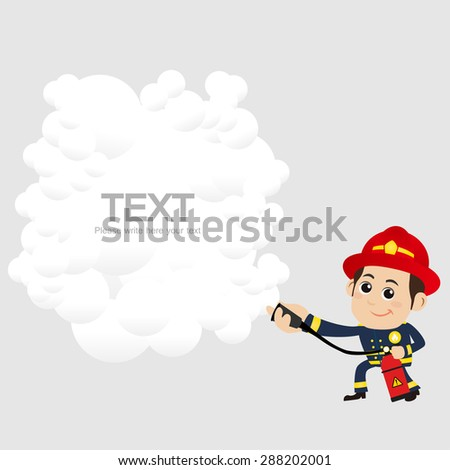People Set - Profession - Firefighter - stock vector