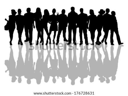People-shadow - stock vector