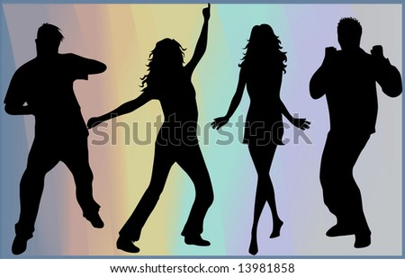 People silhouette- background