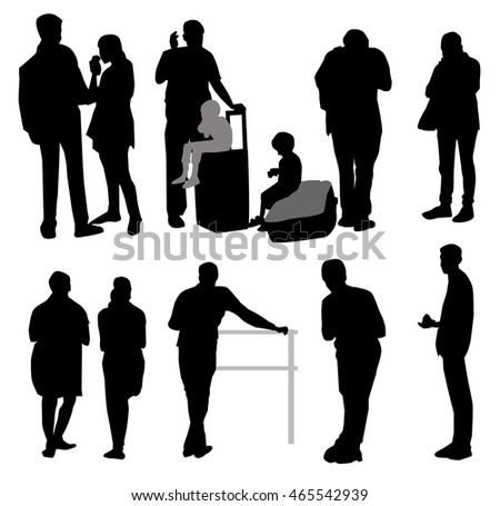 People Silhouette Set - Vector