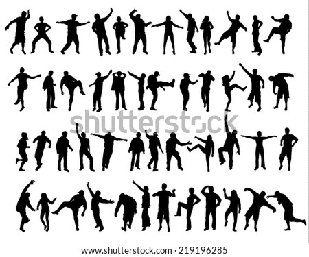 People silhouettes - stock vector