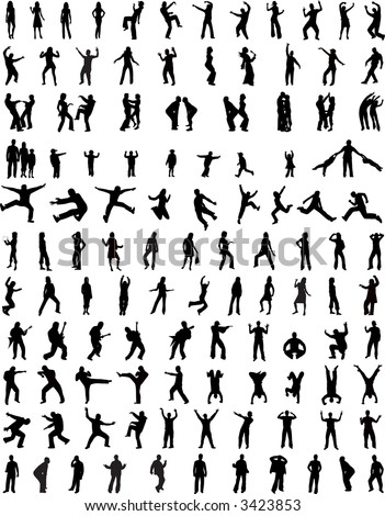 People Silhouettes Body 123