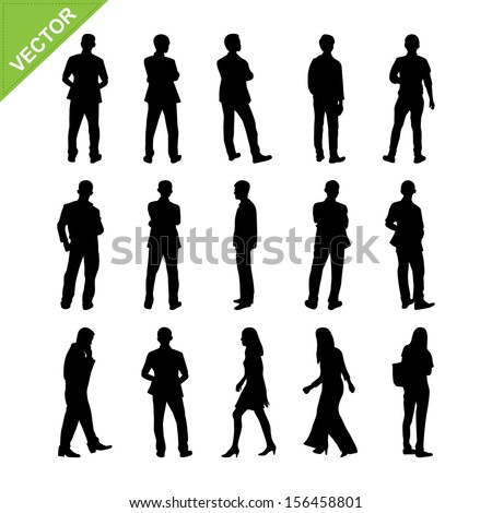 People silhouettes vector - stock vector
