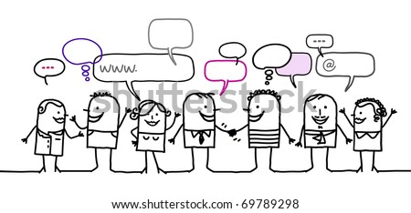 people & social network - stock vector