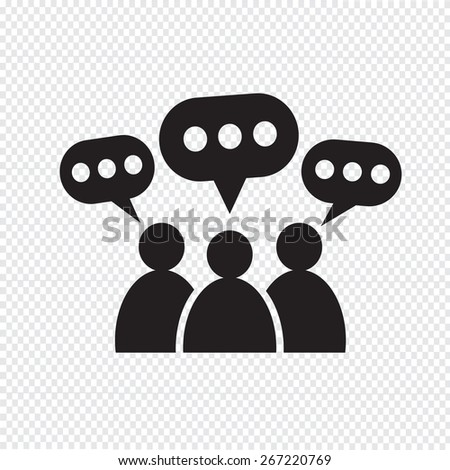 People Speech Bubble Icon - stock vector