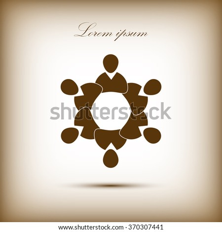 People symbol. Vector illustration. - stock vector