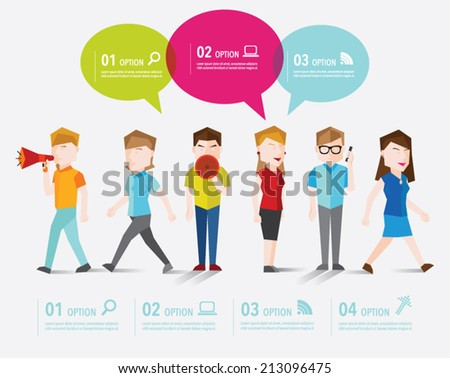 People talk and gather together vector design - stock vector