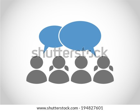 People talking - stock vector
