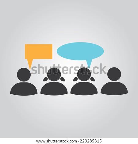 People talking - stock vector