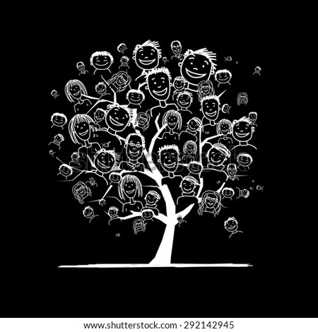People tree for your design. Vector illustration - stock vector