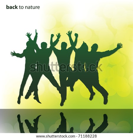 People vector background - stock vector